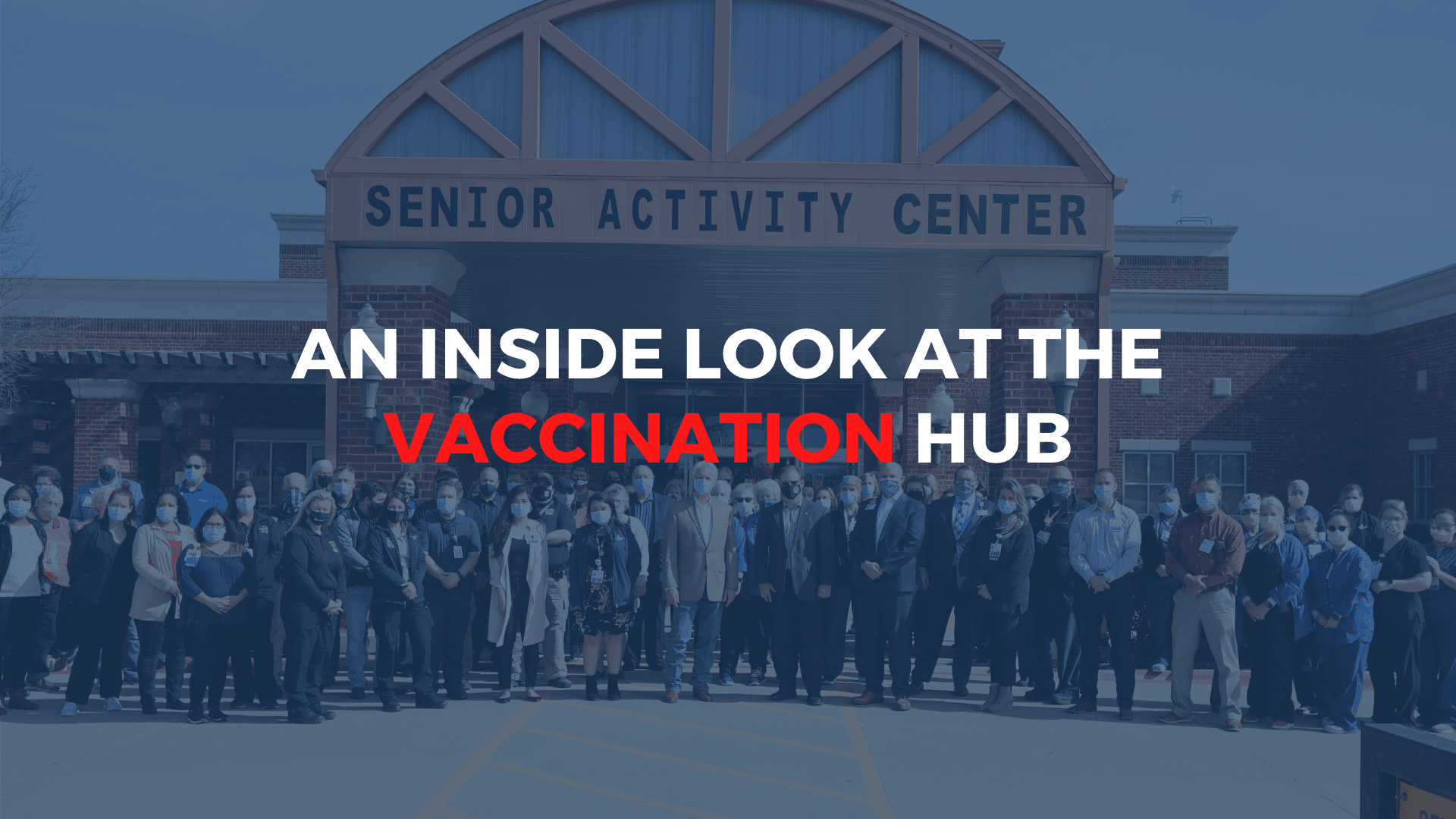 Inside the vaccination hub image